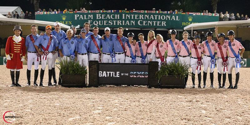 Equestrian battle of the sexes team presentation