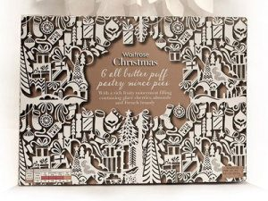 Waitrose mince pies packaging by Kate Forrester