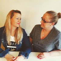Danielle Newnham and Natalie Bardega, Tease and Totes founders