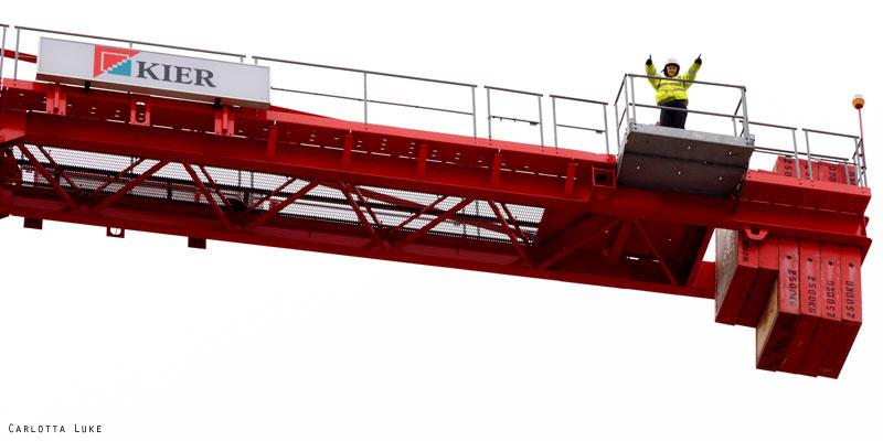 Vicky Harvey - crane operator