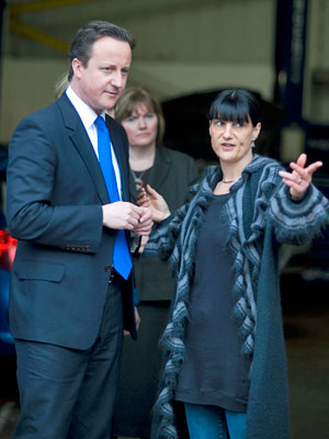 Jennifer Riach meeting David Cameron