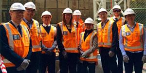 Amanda Clack with RICS members