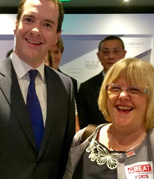 Annie Barr with George Osborne