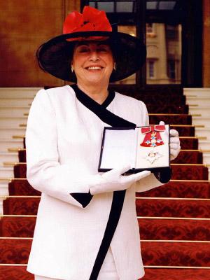 Dame Stephanie Shirley receiving her dameship in 2000