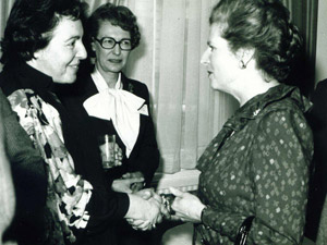 Dame Stephanie Shirley with Margaret Thatcher