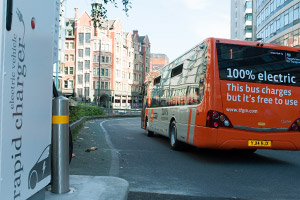 Electric bus in Manchester