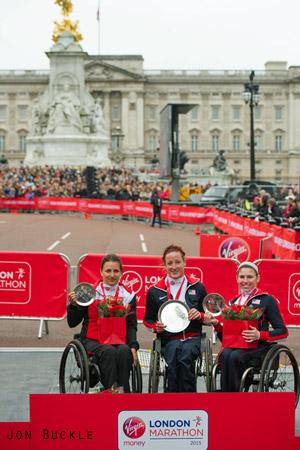 Virgin Money London Marathon 2015 women's wheelchair event winners