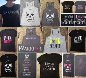 Lover and a Fighter t-shirts and vests