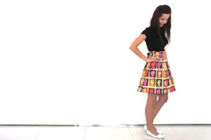 Becky, Queen of Frocks Postage Stamp Skirt