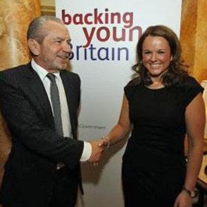 Sir-Alan-Sugar-and-Claire Young