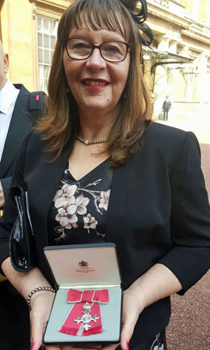 Anne-Wilson of Numill MBE at her Investiture