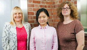 Julie Bickerdyke and her colleagues, Julia Duan and Tonia Parris