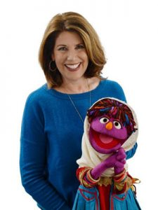 Sherrie Westin and Zari - Sesame Workshop