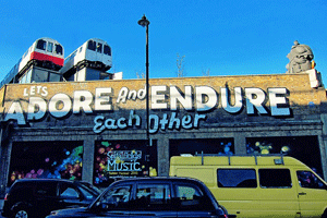 Adore and endure sign in London