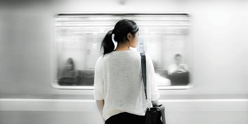 Woman on platform
