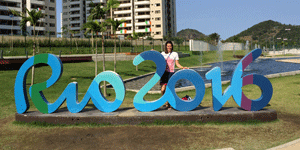 Laura Penhaul at the Rio Paralympics