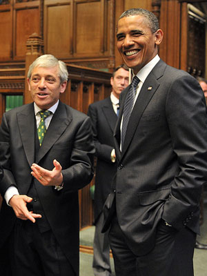 John Bercow and Barack Obama