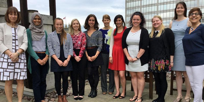 Benita Mehra and Women's Engineering Society Members