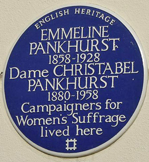 Emmeline Pankhurst - 50 Clarendon Road, London - English Heritage blue plaque