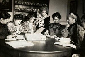 Meeting of Womens Social and Political Union leaders 1906 - 1907