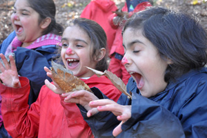 Forest school - doing bear impressions