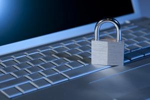 Laptop-and-padlock