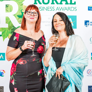 Tara Askham and Natalie-Sharpe of Infused Learning at The Rural Business Awards in October 2017