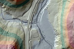 Environment-Agency - Lidar map of Roman road