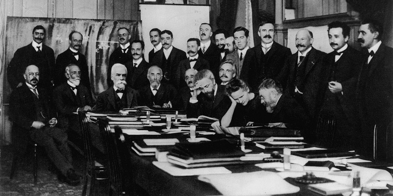 Marie Curie at the first Solvay conference in 1911