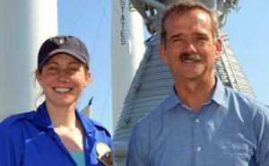 Suzanne Imber with Commander Chris Hadfield