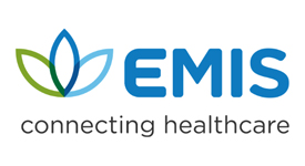 EMIS Health logo - Connecting healthcare strapline