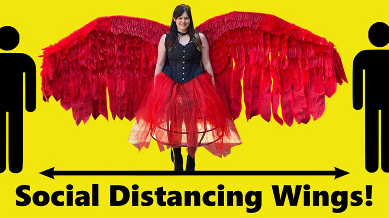 Ruth Amos - Social distancing wings