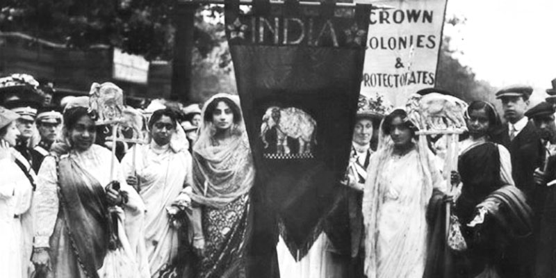 Indian_Suffragettes_on_the_Women's_Coronation_Procession