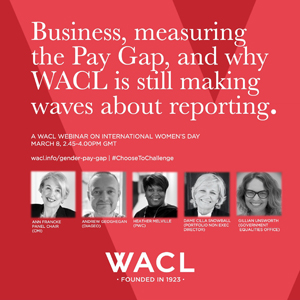 WACL International Womens Day Gender Pay Gap Reporting event