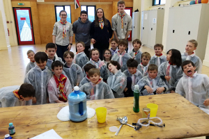 Bethany Probert cubs science session