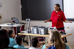 Dr Carlotta Berry teaching