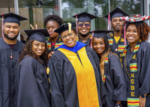 Dr Carlotta Berry and NSBE Grads