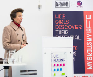 WISE Patron, HRH The Princess Royal speaking at an event at the UTC Reading before the pandmic