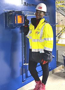 Mimi Mwasame at work